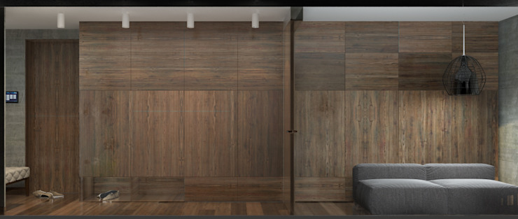 Двухкомнатная квартира Коридор, прихожая и лестница в модерн стиле от Smirnova Luba Модерн
