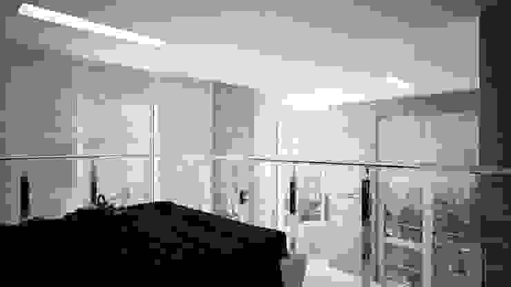 Двух уровненная квартира студия Спальня в стиле минимализм от дизайн-бюро ARTTUNDRA Минимализм