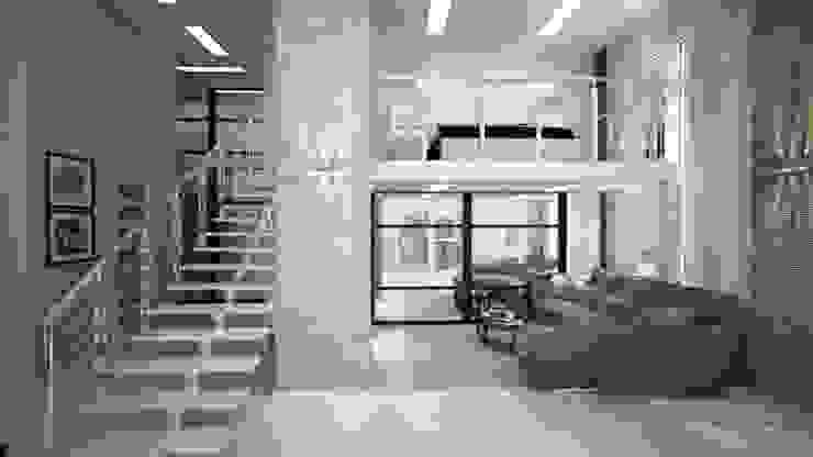 Двух уровненная квартира студия: Гостиная в . Автор – дизайн-бюро ARTTUNDRA,