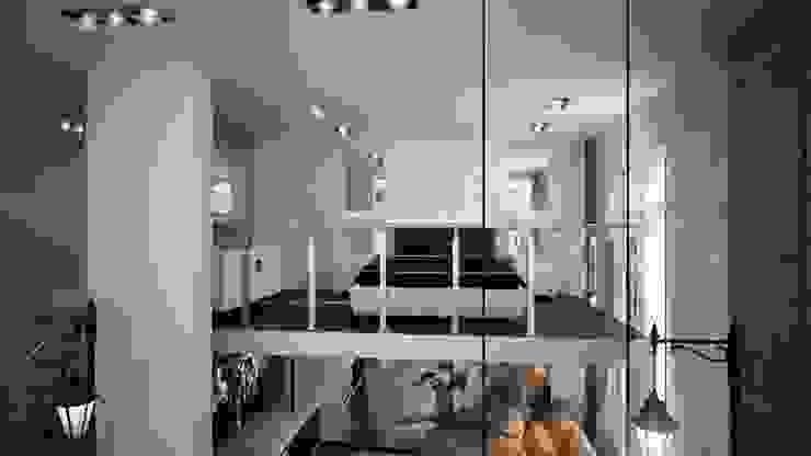 Двух уровненная квартира студия: Спальни в . Автор – дизайн-бюро ARTTUNDRA, Минимализм
