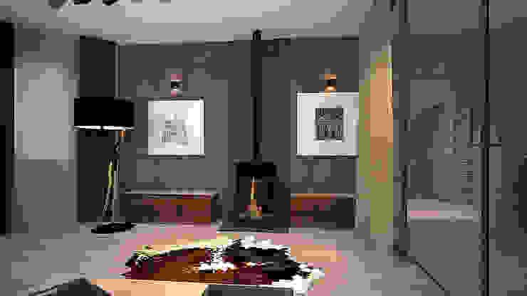 Коттедж в п. Грибки Гостиная в стиле минимализм от дизайн-бюро ARTTUNDRA Минимализм