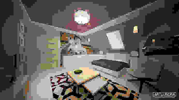 Коттедж в п. Грибки Спальня в стиле минимализм от дизайн-бюро ARTTUNDRA Минимализм