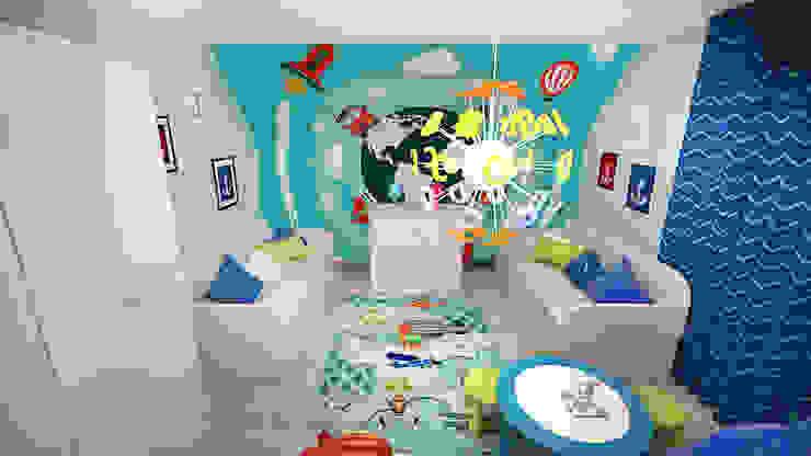 Коттедж в п. Грибки Детская комнатa в стиле минимализм от дизайн-бюро ARTTUNDRA Минимализм