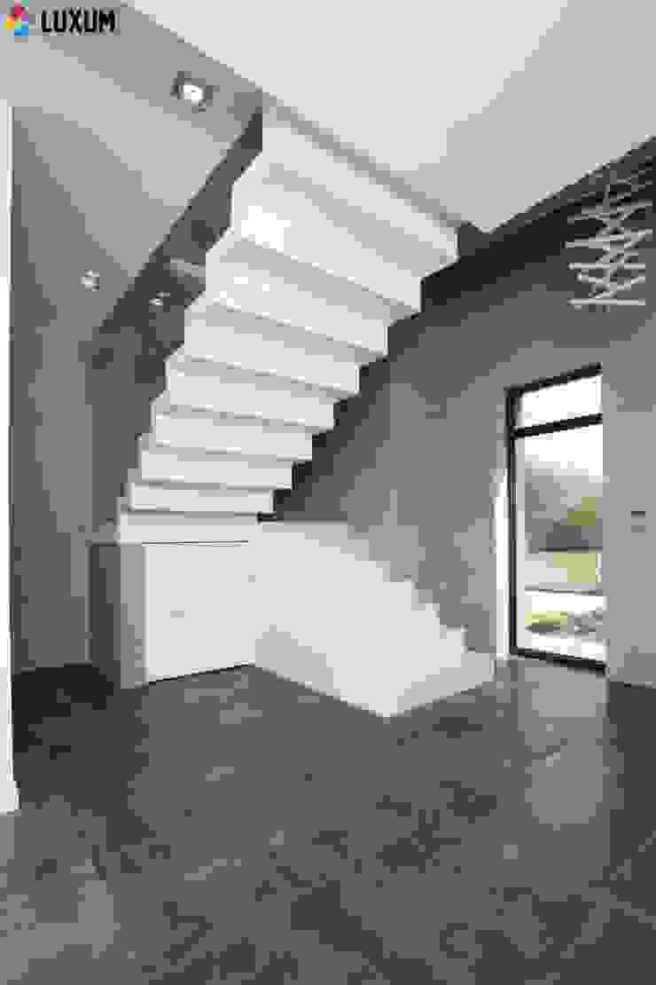 Idealny beton od Luxum Minimalistyczny salon od Luxum Minimalistyczny