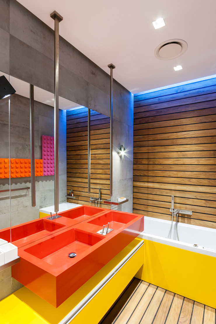 apartment V-21 Baños de estilo minimalista de VALENTIROV&PARTNERS Minimalista