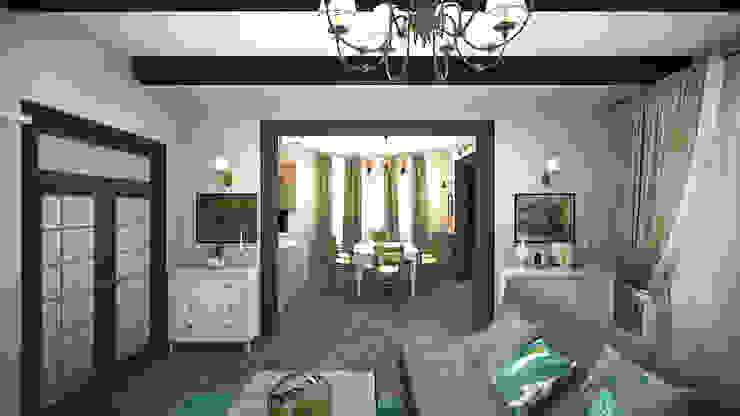 Коттедж в «Гайдпарк» Гостиная в классическом стиле от дизайн-бюро ARTTUNDRA Классический