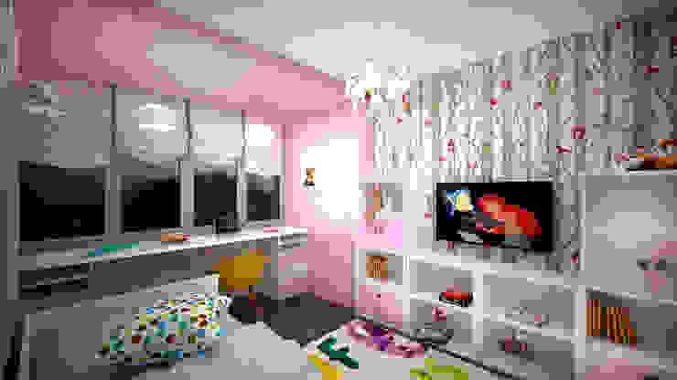 Из двухкомнатной в трехкомнатную. Проект квартиры в Балашихе. Детская комнатa в стиле минимализм от дизайн-бюро ARTTUNDRA Минимализм