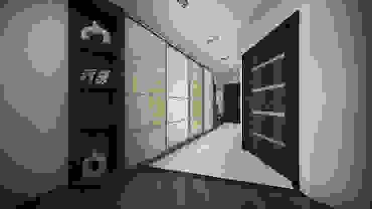 Из двухкомнатной в трехкомнатную. Проект квартиры в Балашихе. Коридор, прихожая и лестница в стиле минимализм от дизайн-бюро ARTTUNDRA Минимализм