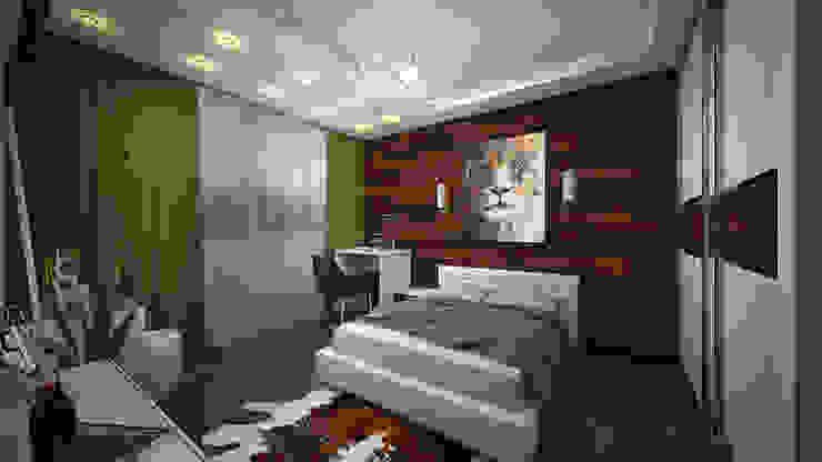 Из двухкомнатной в трехкомнатную. Проект квартиры в Балашихе. Спальня в стиле минимализм от дизайн-бюро ARTTUNDRA Минимализм