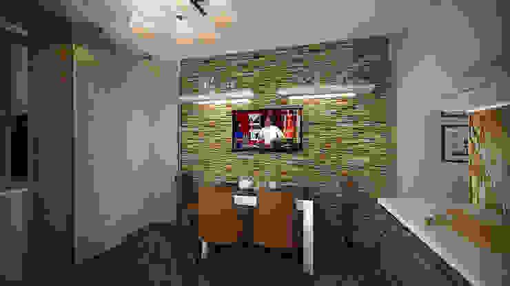Из двухкомнатной в трехкомнатную. Проект квартиры в Балашихе. Кухня в стиле минимализм от дизайн-бюро ARTTUNDRA Минимализм