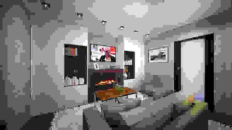 Из двухкомнатной в трехкомнатную. Проект квартиры в Балашихе. Гостиная в стиле минимализм от дизайн-бюро ARTTUNDRA Минимализм