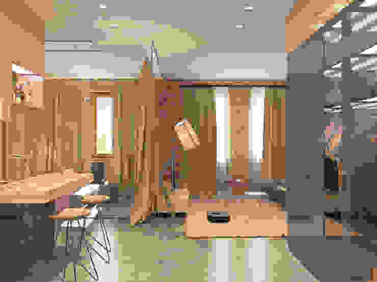 Квартира <q>дача</q> Гостиная в стиле лофт от Kristina Petraitis Design House Лофт