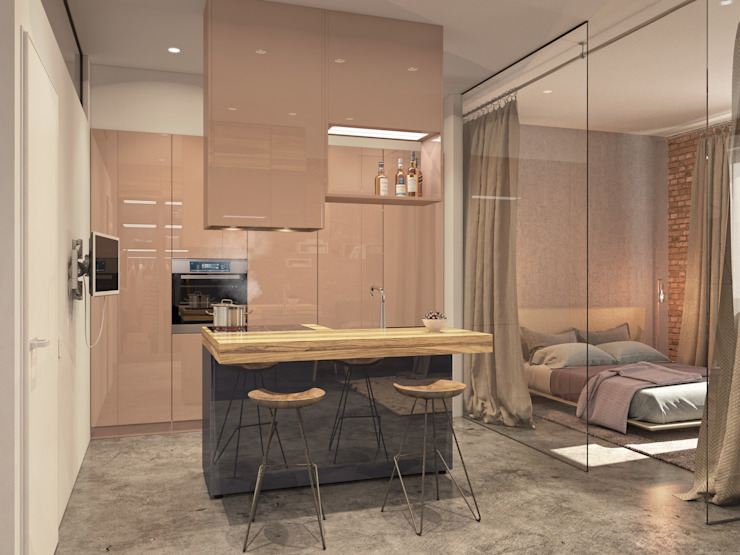 Квартира <q>дача</q> Кухня в стиле лофт от Kristina Petraitis Design House Лофт