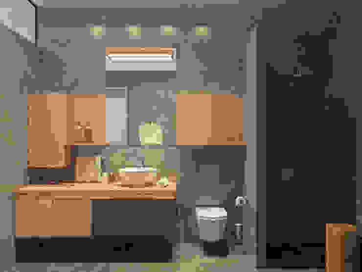 Квартира <q>дача</q> Ванная комната в стиле минимализм от Kristina Petraitis Design House Минимализм