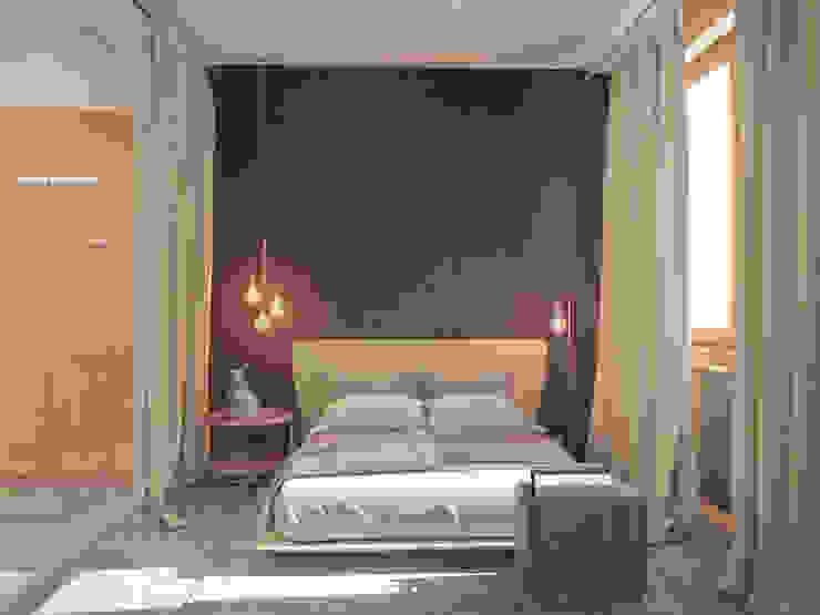 Квартира <q>дача</q> Спальня в стиле лофт от Kristina Petraitis Design House Лофт