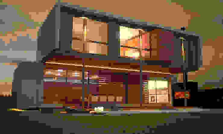 contrafachada METODO33 Casas estilo moderno: ideas, arquitectura e imágenes