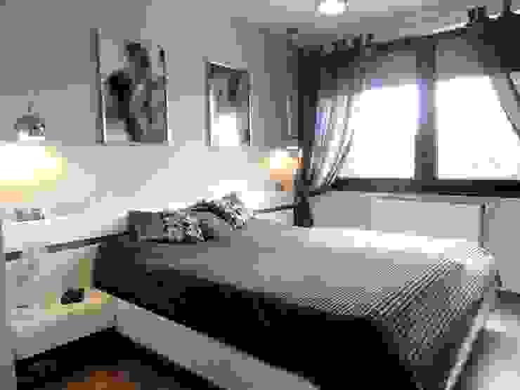 Dom w zabudowie szeregowej Nowoczesna sypialnia od studio bonito Nowoczesny