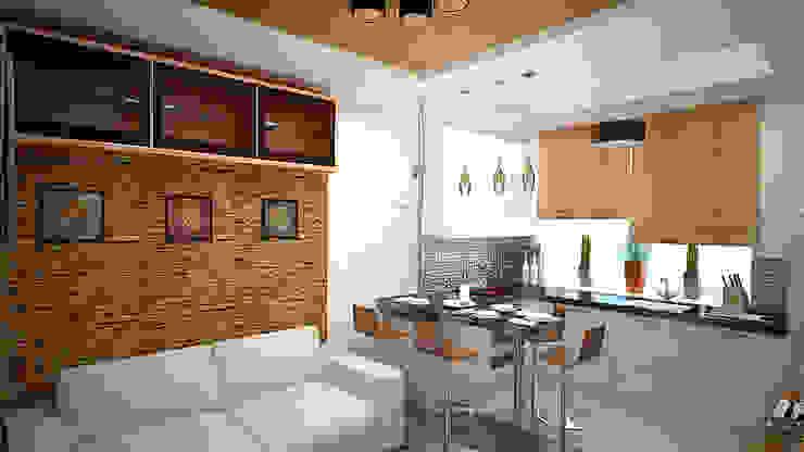Интерьер квартиры ЖК «Алексеевская роща» Кухня в стиле минимализм от дизайн-бюро ARTTUNDRA Минимализм