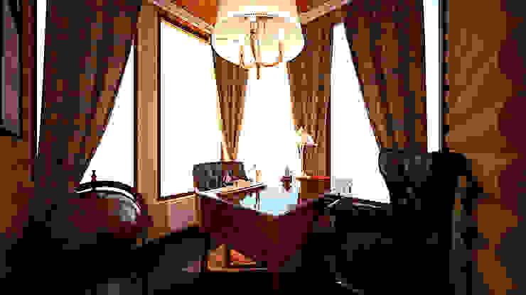 Коттедж п. Устиновка Рабочий кабинет в классическом стиле от дизайн-бюро ARTTUNDRA Классический