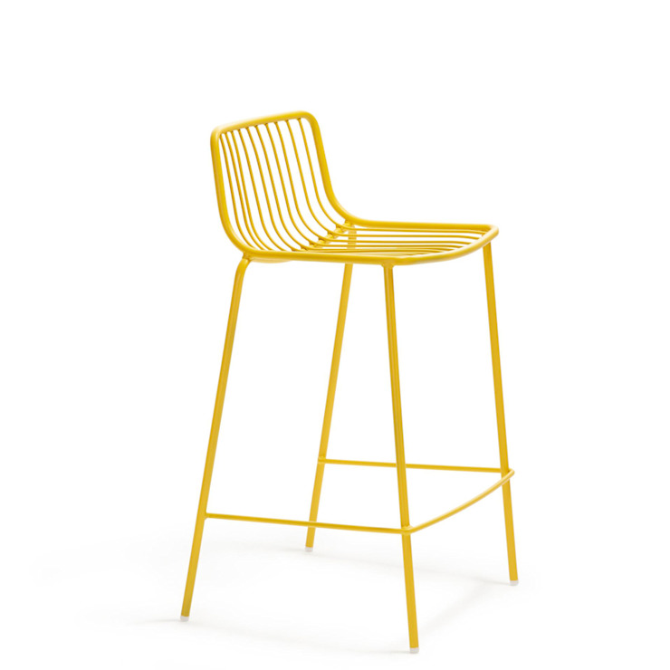 'Nola' steel Indoor/Outdoor stool by Pedrali par My Italian Living Moderne Fer / Acier