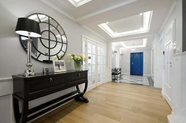 Modern corridor, hallway & stairs by 3deko Modern