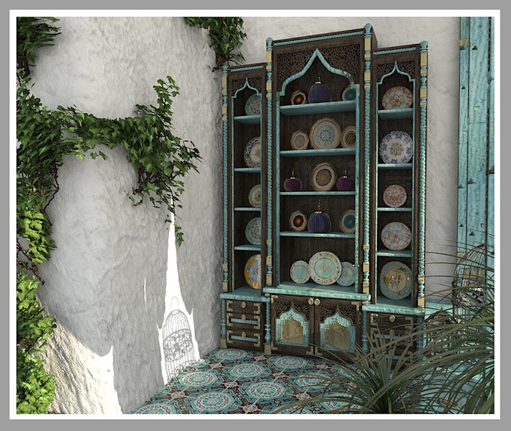 Веранда в марокканском стиле Балкон и терраса в азиатском стиле от Рязанова Галина Азиатский