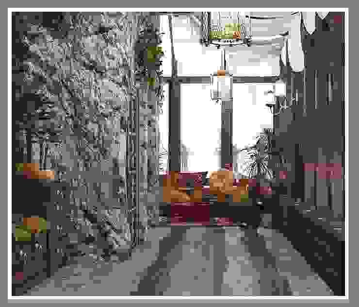 Веранда в этническом стиле Балкон и терраса в азиатском стиле от Рязанова Галина Азиатский