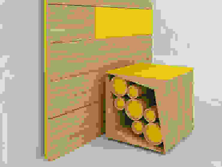 Cubed Stool: modern  by Preetham  Interior Designer,Modern Wood Wood effect