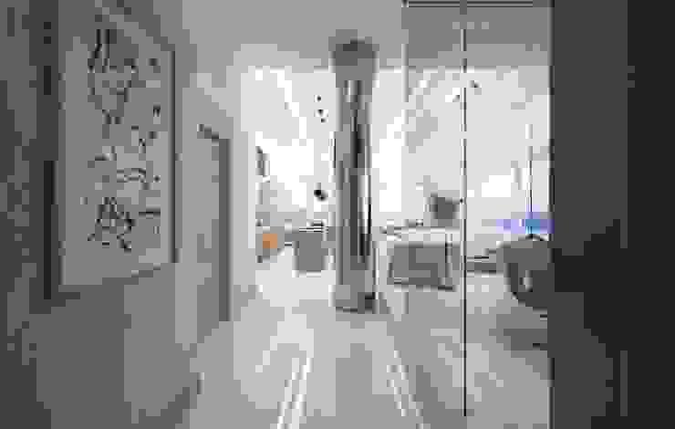 Hudson St Коридор, прихожая и лестница в модерн стиле от KAPRANDESIGN Модерн