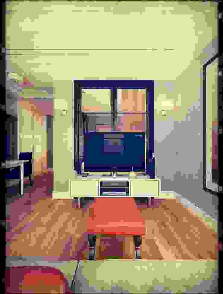 Kill Bill. New York. 2014 Коридор, прихожая и лестница в стиле минимализм от KAPRANDESIGN Минимализм