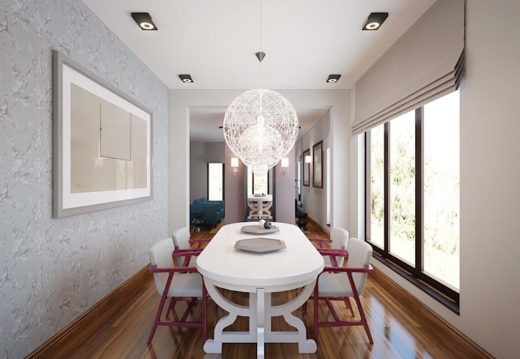 Tropical style dining room by KAPRANDESIGN Tropical