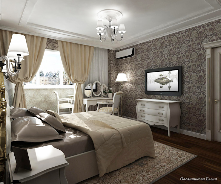 Classic style bedroom by Елена Овсянникова Classic