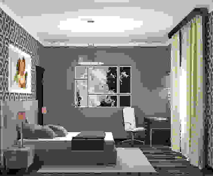 Спальня в стиле фьюжн Спальня в эклектичном стиле от Виталия Бабаева и Дарья Дикая Эклектичный