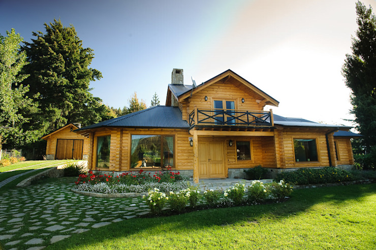 by Patagonia Log Homes - Arquitectos - Neuquén Country Wood Wood effect
