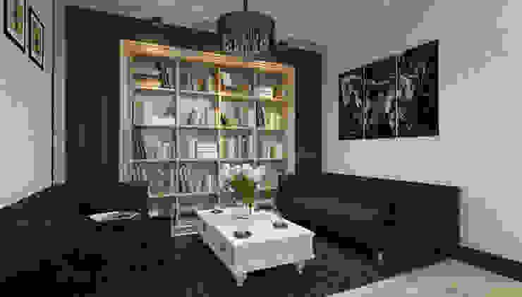 Частный дом (Краснодар) Mushulov Project Гостиная в классическом стиле