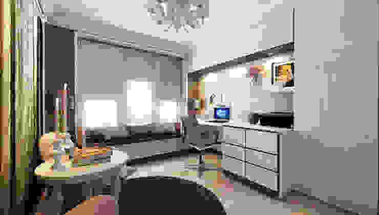 Частный дом (Краснодар) Mushulov Project Рабочий кабинет в классическом стиле
