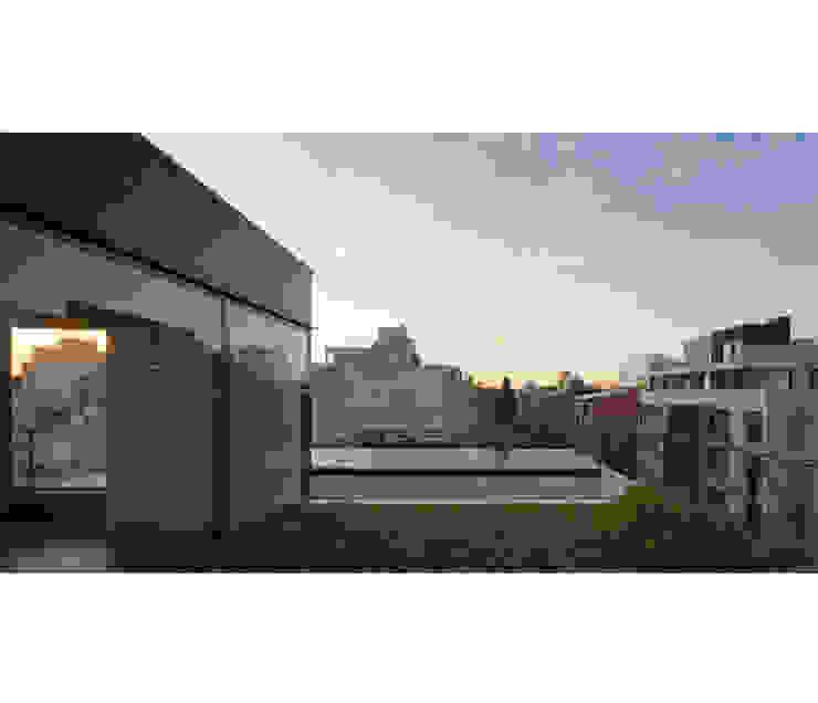 Modern balcony, veranda & terrace by IR arquitectura Modern Iron/Steel