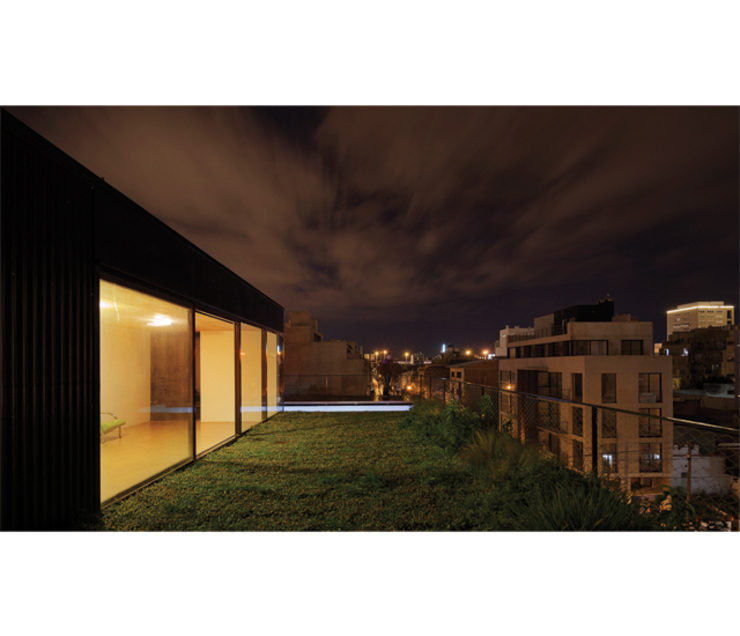 Modern terrace by IR arquitectura Modern Iron/Steel