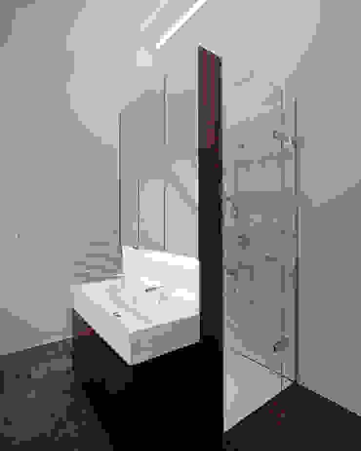 schröckenfuchs∞architektur Eclectic style bathroom Porcelain