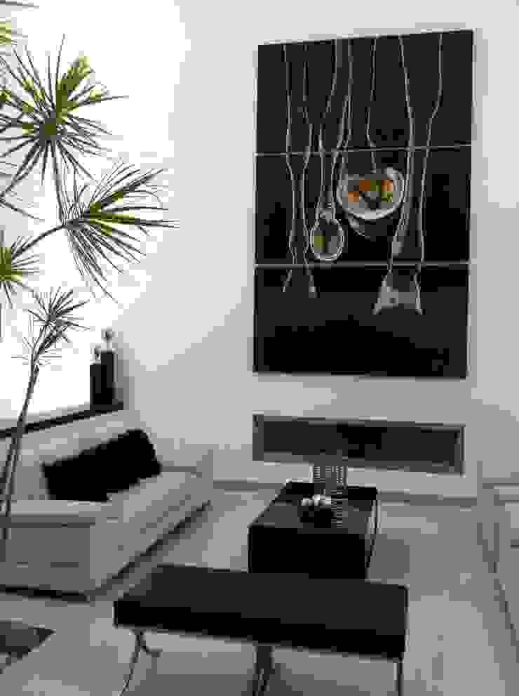 Sala a doble altura Salones minimalistas de ARKIZA ARQUITECTOS by Arq. Jacqueline Zago Hurtado Minimalista