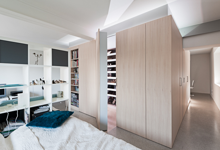 オリジナルスタイルの 寝室 の schröckenfuchs∞architektur オリジナル
