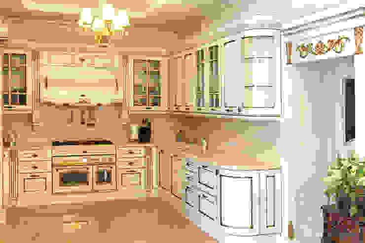 Двери из натурального ясеня Кухня в классическом стиле от Lesomodul Классический