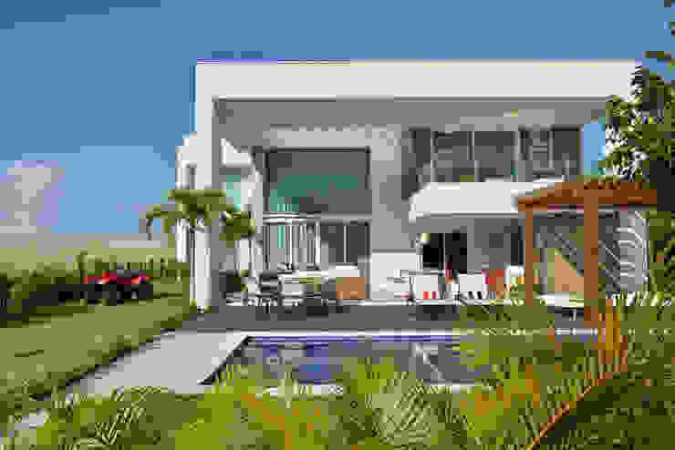 Pinheiro Martinez Arquitetura 現代房屋設計點子、靈感 & 圖片 木頭 White