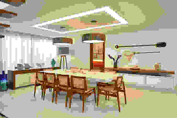Pinheiro Martinez Arquitetura Comedores de estilo moderno Blanco