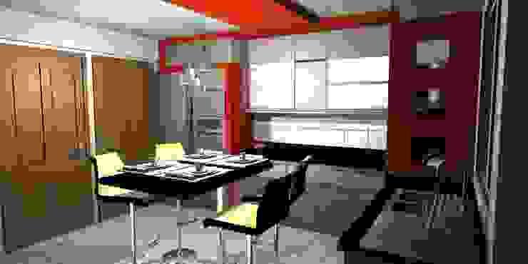 Cocinas de estilo minimalista de pb Arquitecto Minimalista Compuestos de madera y plástico