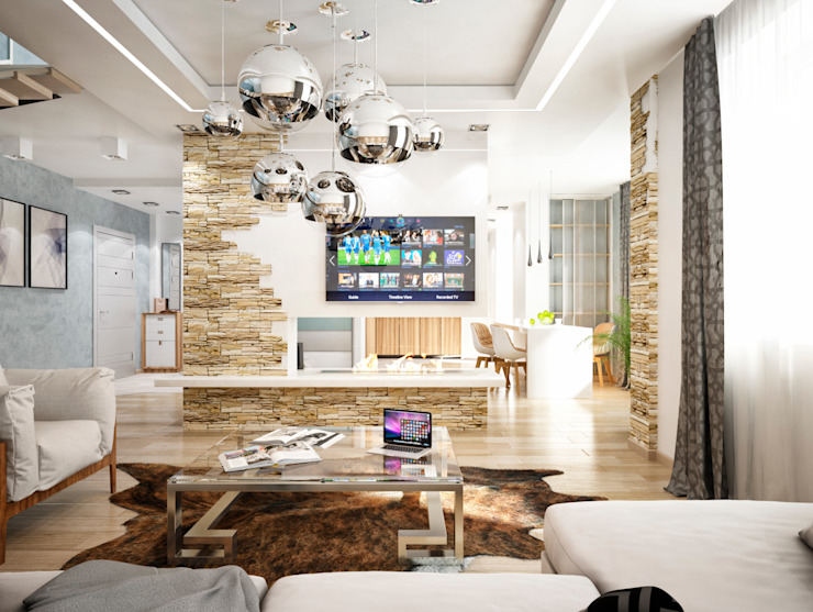 Гостиная Гостиная в стиле минимализм от Студия архитектуры и дизайна ДИАЛ Минимализм
