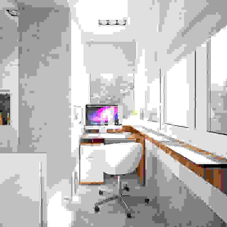 غرفة المعيشة تنفيذ Студия архитектуры и дизайна ДИАЛ