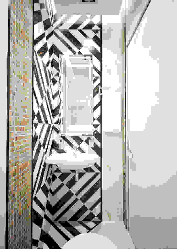 Двухэтажная квартира в современном стиле для молодой семьи Ванная комната в стиле минимализм от Студия архитектуры и дизайна ДИАЛ Минимализм