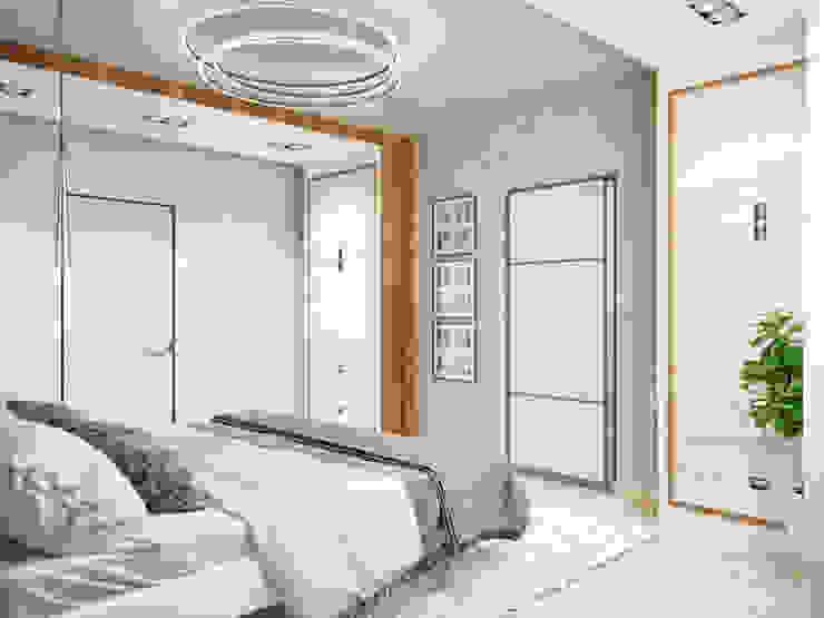 Двухэтажная квартира в современном стиле для молодой семьи Спальня в стиле минимализм от Студия архитектуры и дизайна ДИАЛ Минимализм