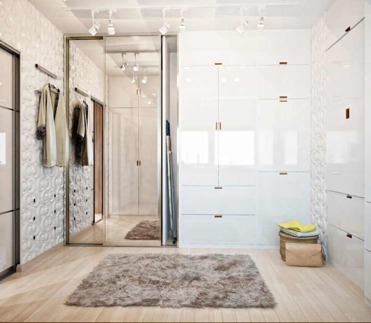 Minimalist style dressing rooms by Студия архитектуры и дизайна ДИАЛ Minimalist